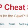 CakePHP2.x チートシートを使ってみよう